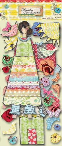 Pink Paislee - She Art Collection - Bits and Pieces - Die Cut Tags - Paper Dolls at Scrapbook.com $4.49