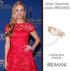 Greer Grammer wearing BRUMANI's Looping Shine Collection!!! #brumani #greergrammer #brazil #lookoftheday #loopingshine #redcarpet #design #diamond #beautiful #lovegold #luxurybrand #instajewel #instafashion