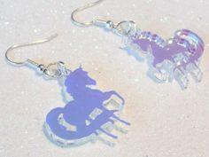 Glitter Bomb UK - Iridescent Acrylic Unicorn Earring