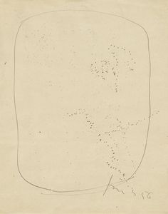 """Lucio Fontana - Untitled. 1956, Incised paper and ink on paper,  12 1/2 x 9 7/8"""" (31.6 x 24.9 cm)  /MOMA"""