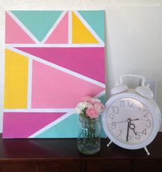 Pretty Providence | A Frugal Lifestyle Blog: DIY Geometric Wall Art