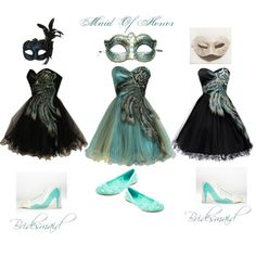"""""""Halloween Wedding, Masquerade Wedding Party"""" by surrealstarr on Polyvore"""