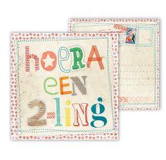 Studio Deksels - Wenskaart - Hoera een tweeling - 2-ling