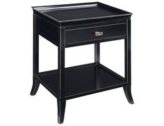 Sterling Tamara Black Nightstand  24 x18 x 29.15 (H)  $370