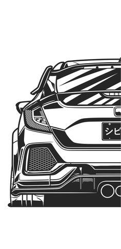 Civic Jdm, Honda Civic Sport, Honda Type R, Honda Vtec, Cool Car Drawings, Jdm Wallpaper, Street Racing Cars, Top Luxury Cars, Honda Jazz