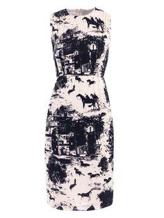 Corey horse-print dress | Emilia Wickstead | Matchesfashion.com