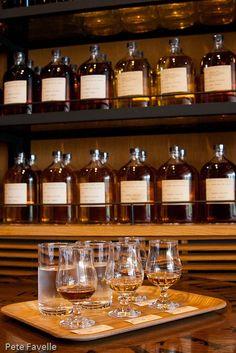 Fantastic whisky bar at Yamazaki Distillery, near Kyoto, Japan