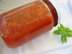 Hot Sauce Bottles, Chutney, Meatloaf, Salsa, Yummy Food, Yummy Recipes, Jar, Canning, Cellar