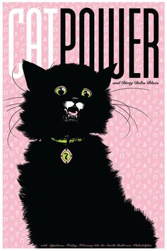 Kate Crosgrove, Cat Power, Limited edition of 60, 4 color screnprint
