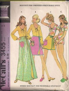 Vintage 70s Bodysuit Sewing Pattern with by HoneymoonBus on Etsy, $9.99
