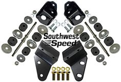 NEW 55-57 CHEVY FRONT & REAR ENGINE MOUNT KIT WITH BRACKE...