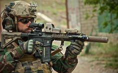 A MARSOC operator during a patrol in Afghanistan.