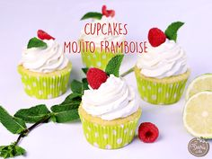 On a trouvé la recette parfaite pour mixer goûter et apéro : les cupcakes mojito framboise, parfaite pour se rafraîchir l'été !