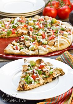 Grilled Mexican Pizza | ASpicyPerspective.com - Try marinating the chicken using Brownwood Farms Yankee Bourbon BBQ Sauce