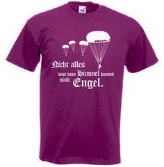 Fallschirmjäger T-Shirt Engel - Nicht alles was vom Himmel kommt sind Engel in der Farbe bordeaux / mehr Infos auf: www.Guntia-Militaria-Shop.de