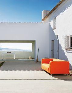 Uno de los grandes atractivos de la vivienda es el porche, desde el que se puede obervar la majestuosidad del campo manchego.