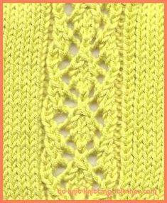 Diamond Panel - Lace Stitch Knitting Pattern
