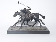 Bronze Sculpture Polo Players