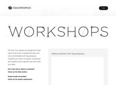 Squarespace Workshops