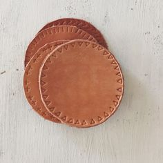 handmade leather coasters coming to the shop soon!