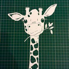 'Ello! #giraffe #giraffes #nomnomnom #wip #workinprogress #paper #pretty #paperart #papercut #paperartist #papercutter #papercutting #handdrawn #handcut #handmade #illustration #childrensillustration #nurserydecor #nurseryartwork #thepapernursery