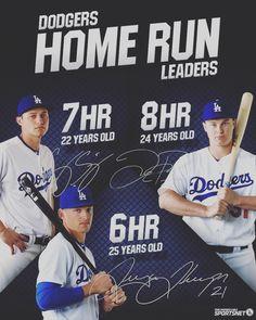 THINK BLUE: |YoungGuns|  #Dodgers #traycethompson #coreyseager #jocpederson #thefuture #rookieoftheyear #dodgerstadium #blue #mlb #baseball #amazing #beautiful #followme #instagood #instalike #love #likesforlikes #tagsforlikes #photooftheday by bleed_blue_42