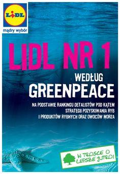 Lidl nr 1 według Greenpeace na podstawie rankingu detalistów pod kątem strategii pozyskiwania ryb i produktów rybnych oraz owoców morza - 2011
