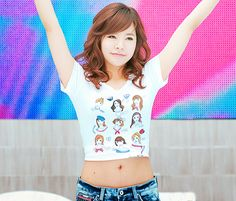 sunny. I like her outfit :)