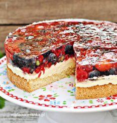 Biszkopt z Kremem, Owocami i Galaretką Tiramisu, Cake Recipes, Cheesecake, Deserts, Cooking Recipes, Baking, Ethnic Recipes, Food, Laptop