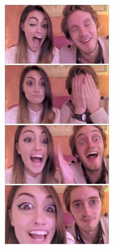 Felix (Pewdiepie) & Marzia (Cutiepie) Photo Booth Tag :) they are so adorable and I'm so glad that Pewds is including more videos with her... They are both so amazing... :D