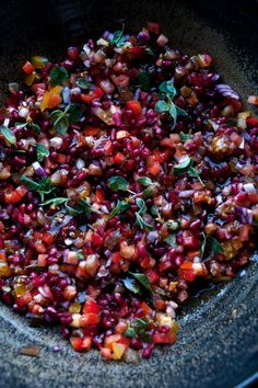 "Tomato and pomegranate salad. From Yotam Ottolenghi ""I rarely rave ..."