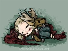 Hobbit - Chibi Thranduil and Stag, Ceros by caycowa on DeviantArt