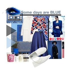 """Some days are Blue"" by marija2132 ❤ liked on Polyvore featuring mode, MANGO, philosophy, ASOS, Eos, NARS Cosmetics, Monki, Vionnet en Uniqlo"