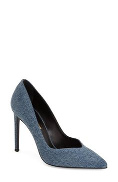 Saint Laurent 'Paris Skinny' Pointy Toe Pump (Women) available at #Nordstrom