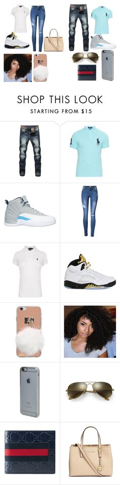 """me and him time"" by damoniquewilson on Polyvore featuring Polo Ralph Lauren, NIKE, Incase, Ray-Ban, Gucci and Michael Kors"