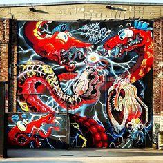 Artist: @nychos  #graffiti #streetart #vienna #urbanwalls #sprayart #viennastreetart #picoftheday #photooftheday #igersaustria #wien #austrianblogger #österreich #urbanart #austria #rsa_graffiti #photo #mural #tv_streetart #globalstreetart #dsb_graff #muralsdaily #streetart_daily #welovestreetart #streetartfiles #dragon #nychos #arenawien by bob.marlis