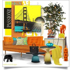 My Passion For Design... by addicted2design on Polyvore featuring polyvore interior interiors interior design home home decor interior decorating Joybird Furniture Palecek Dot & Bo Pacific Coast The Elephant Family DENY Designs Pier 1 Imports Tim Harding Dooney & Bourke
