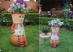 Boneco de flores