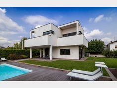 Hausbau modern flachdach  Bauhaus Kieffer - #Einfamilienhaus von Baufritz | HausXXL #modern ...