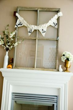 Ruffled burlap fall banner tutorial