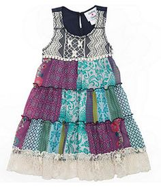 Rare Editions Chiffon/Lace Tiered Dress  At first I thought this little dress was too chabby chic...but upon looking at it closely find it to be really classic and girly - in a word...Superb!