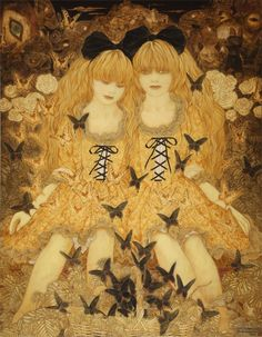 Beautiful art by Sasamoto Masaaki, whose work always reminds me of the dark versions of fairy tales.