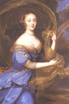 Françoise Athénaïs de Rochechouart de Mortemart, marquise of Montespan 1640–1707 was the celebrated maîtresse en titre of Louis XIV. She was more Queen than mistress and they had 7 children together. She was known for her forceful personality, beauty and seductive charms. Their affair was passionate and fiery but after years of continuous pregnancies coupled with her enthusiasm for good food she became obese. Louis tired of her and the Affaire des Poisons ended her reign.