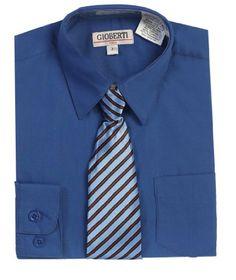 Boys Wedding Clothes   Gioberti Boy's Long Sleeve Dress Shirt + Stripe Clip Tie-4-Royal Blue Gioberti http://www.amazon.com/dp/B00EUHXEX4/ref=cm_sw_r_pi_dp_3zf4tb0FWKXW08HJ
