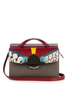 FENDI Demi Jour Bag Bugs Small Leather Cross-Body Bag. #fendi #bags #canvas…bag, сумки модные брендовые, bags lovers, http://bags-lovers.livejournal