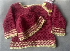 Hey, I found this really awesome Etsy listing at https://www.etsy.com/listing/186252465/red-and-yellow-infant-sweater-and-hat