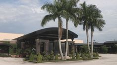 Pepin Hospitality Centre, in Tampa, great place for a wedding, they have a unigue Waterfall & Fire and the front entrance, which at night time is impressive.  http://celebrationsoftampabay.com/