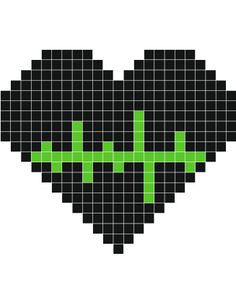 perler heart- This would make a cool keychain for a nurse.