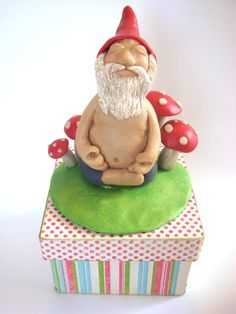 Meditating Gnome for Sarahelise (Make My Collectible 2 Swap!) - Craftster