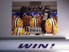 College-NCAA 24541: Lsu Win! Bar (Officially Licensed) -> BUY IT NOW ONLY: $75 on eBay!